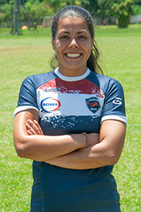 Natalia Mayumi – Capitã do time feminino Guarulhos Rugby – Aciseg