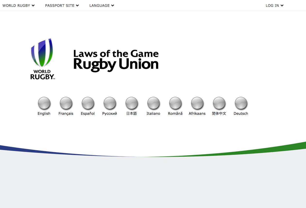 Questionário e Certificado do World Rugby